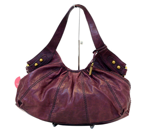 FOSSIL Burgundy Leather Shoulder Handbag E2999