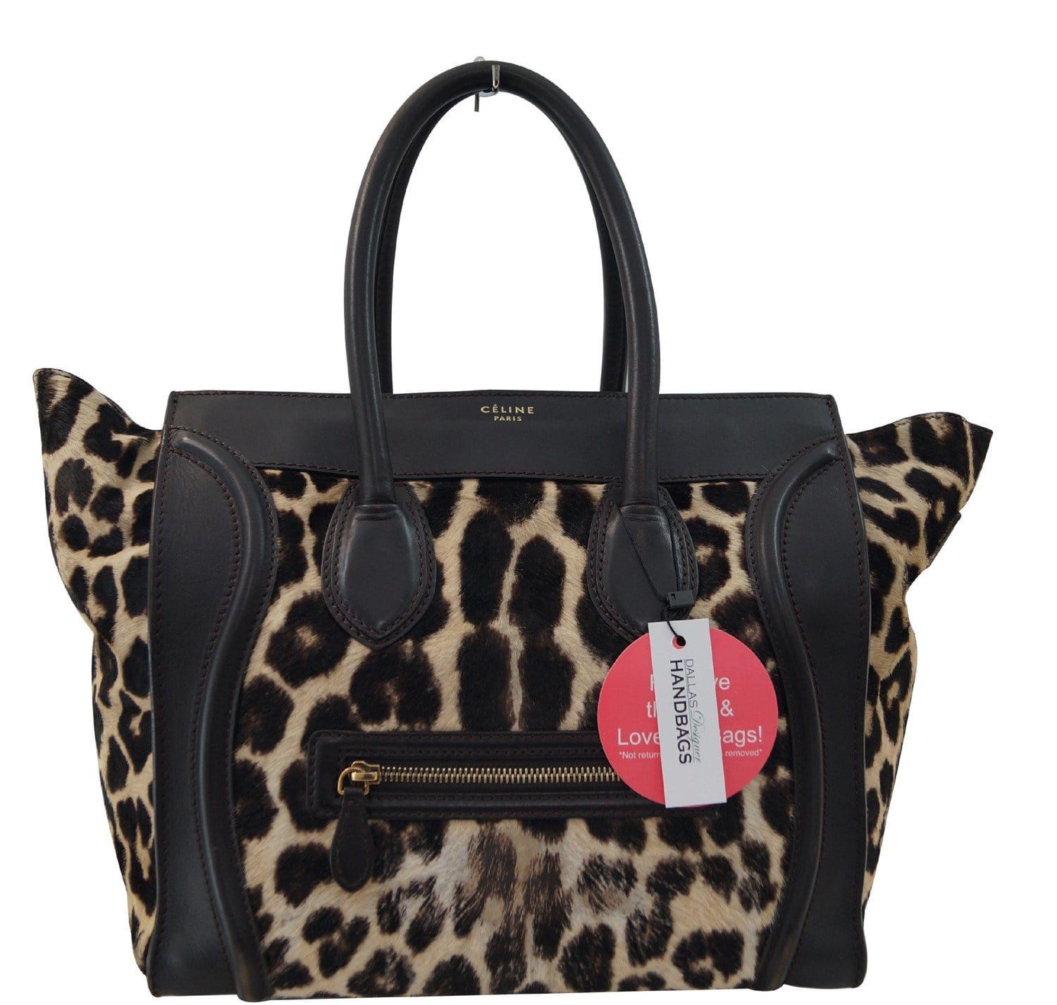 3d16d89bbd38 Celine Brown Ponyhair Leopard Print Luggage Tote - Final Call