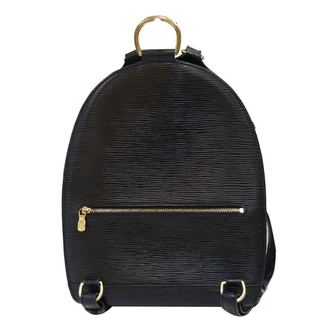 LOUIS VUITTON Mabillon Epi Leather Backpack Black