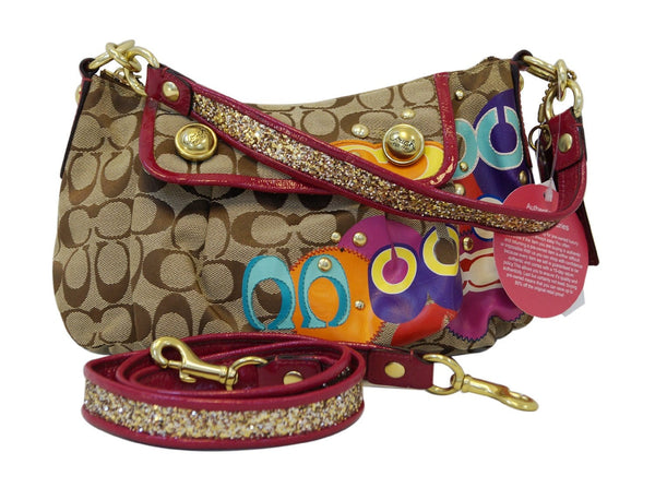 COACH Poppy Glitter Glam Groovy Purse Crossbody Bag E2993