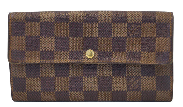 LOUIS VUITTON Damier Ebene Sarah Long Wallet