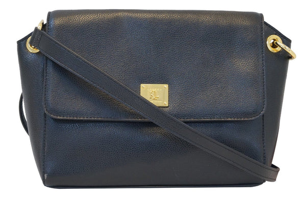 Ralph Lauren Black Leather Crossbody Bag TT624 - Sale