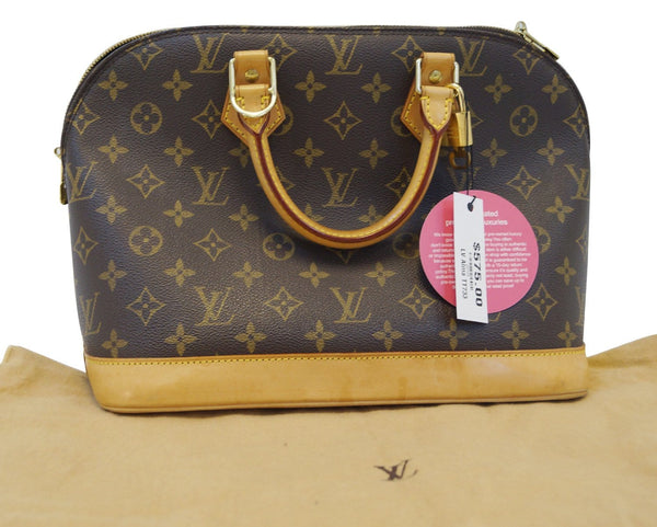 LOUIS VUITTON Alma Monogram Canvas Handbag