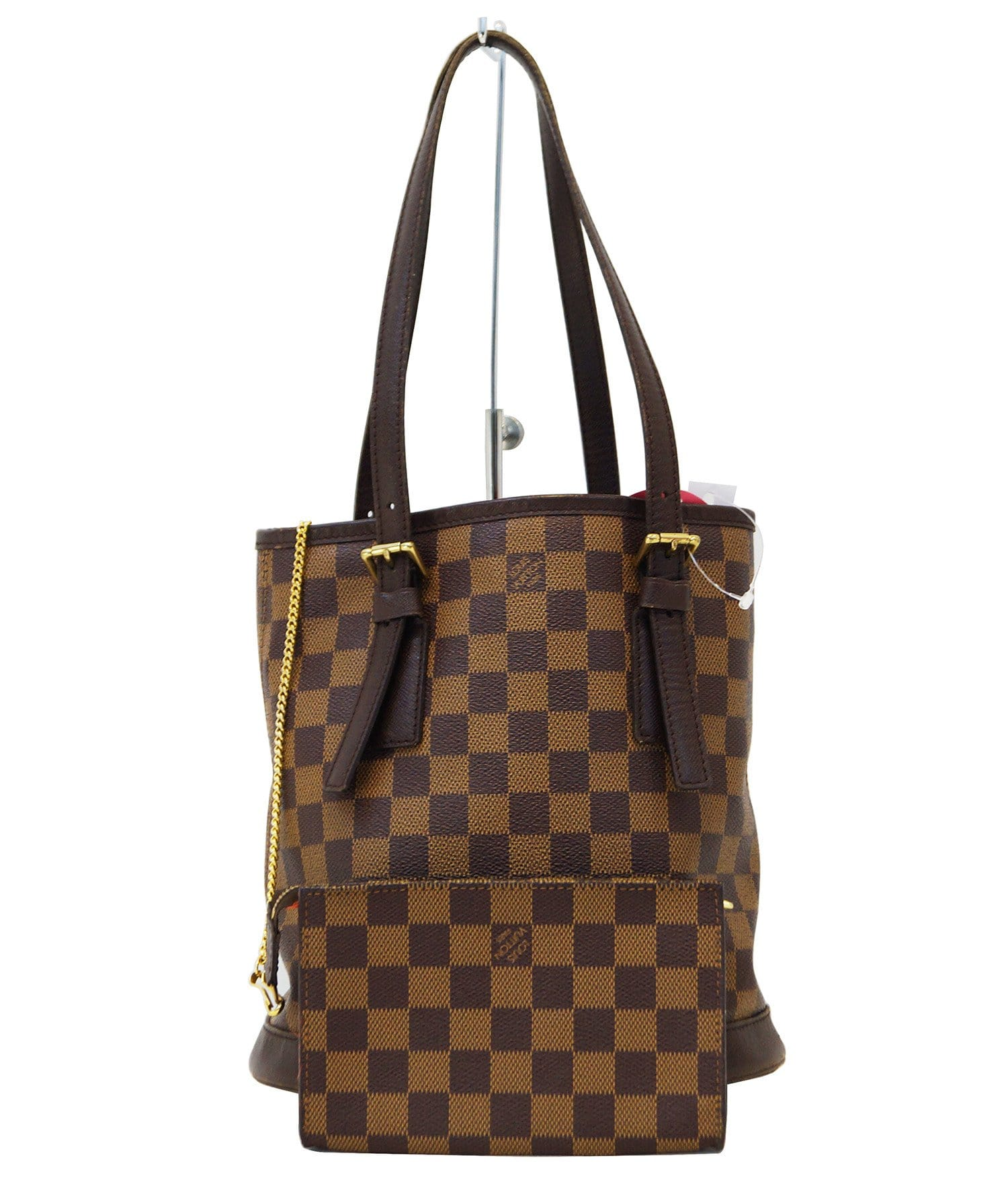 75aa6e8abf3b1 LOUIS VUITTON Damier Ebene Brown Marais Bucket Bag
