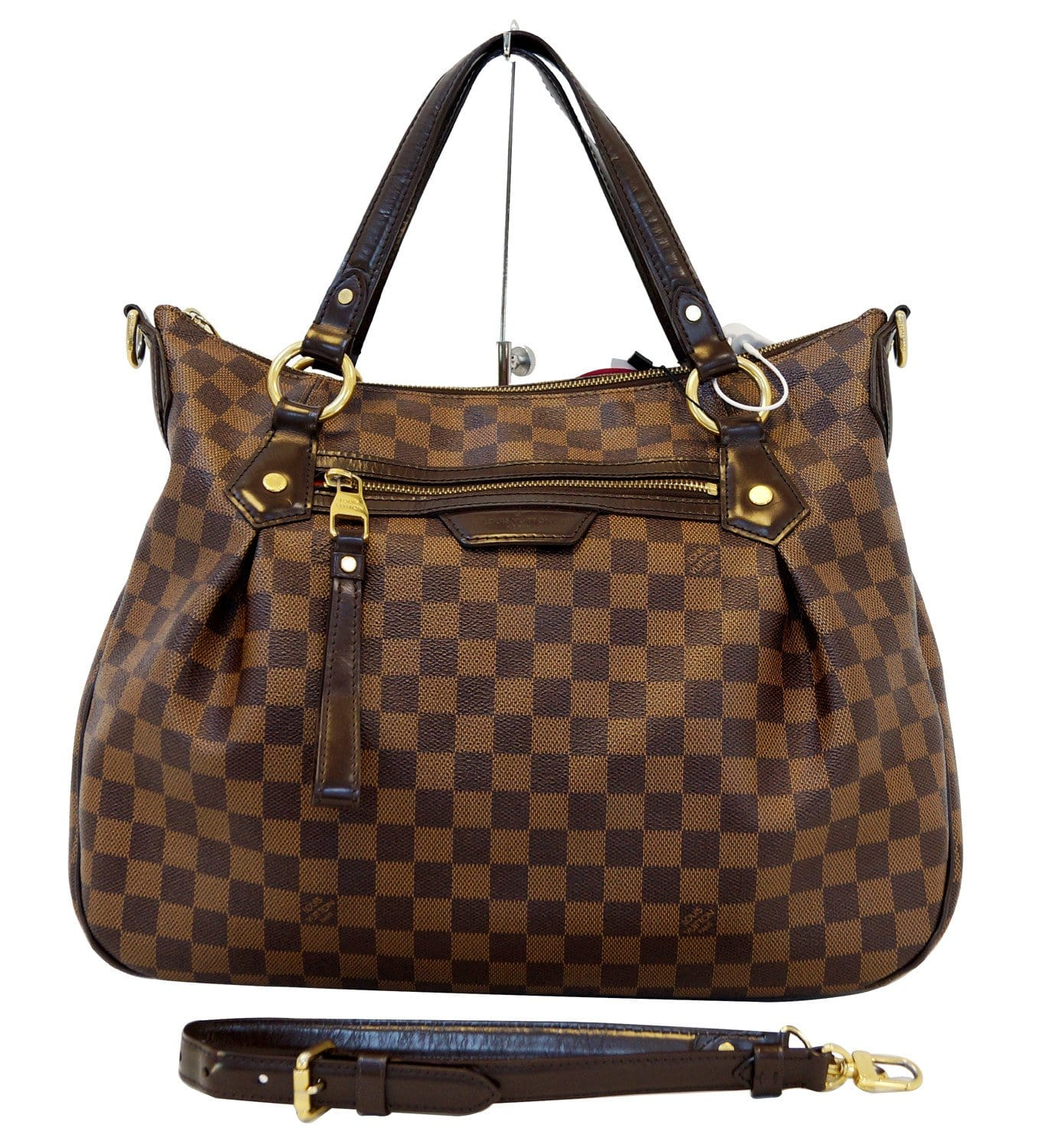e19898a44c41 Louis Vuitton Evora MM Damier Ebene Hobo Shoulder Bag