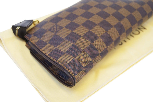 LOUIS VUITTON Damier Ebene Pochette Eva Clutch Shoulder Bag