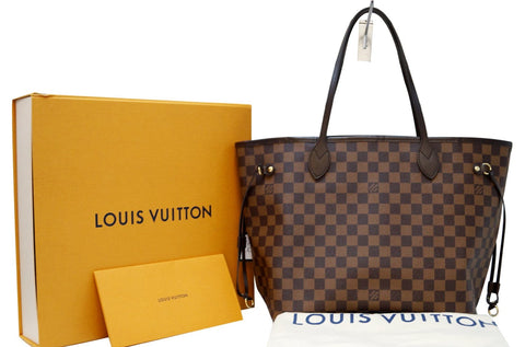 2218ca8fd6c LOUIS VUITTON Damier Ebene ROSE BALLERINE Neverfull MM NM Tote