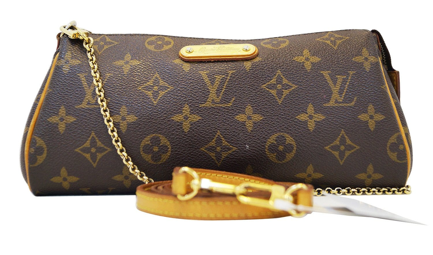 45127703f LOUIS VUITTON Monogram Pochette Eva Clutch Shoulder Bag