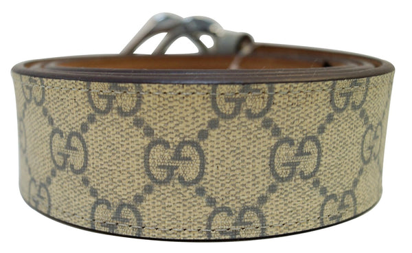 Gucci GG Canavs Interlocking G with Square Buckle Belt Size 42