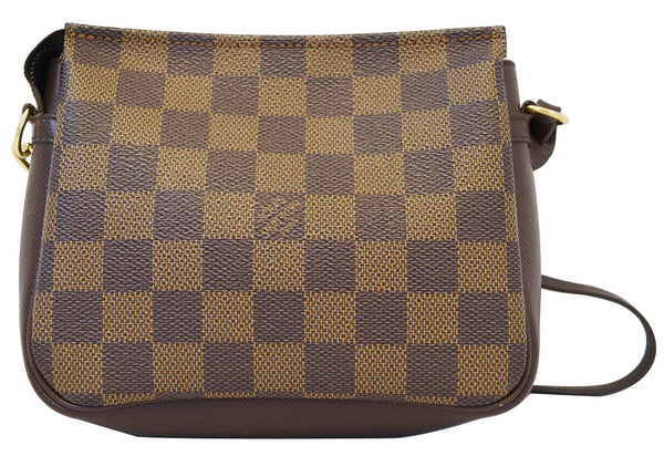 LOUIS VUITTON Damier Ebene Truth Makeup Pouch Brown