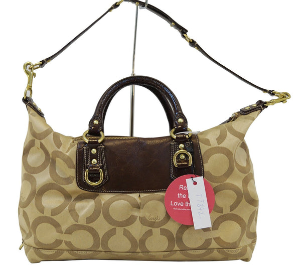 Coach Madison Sabrina Gold Logo Signature Satchel Handbag- Final Call