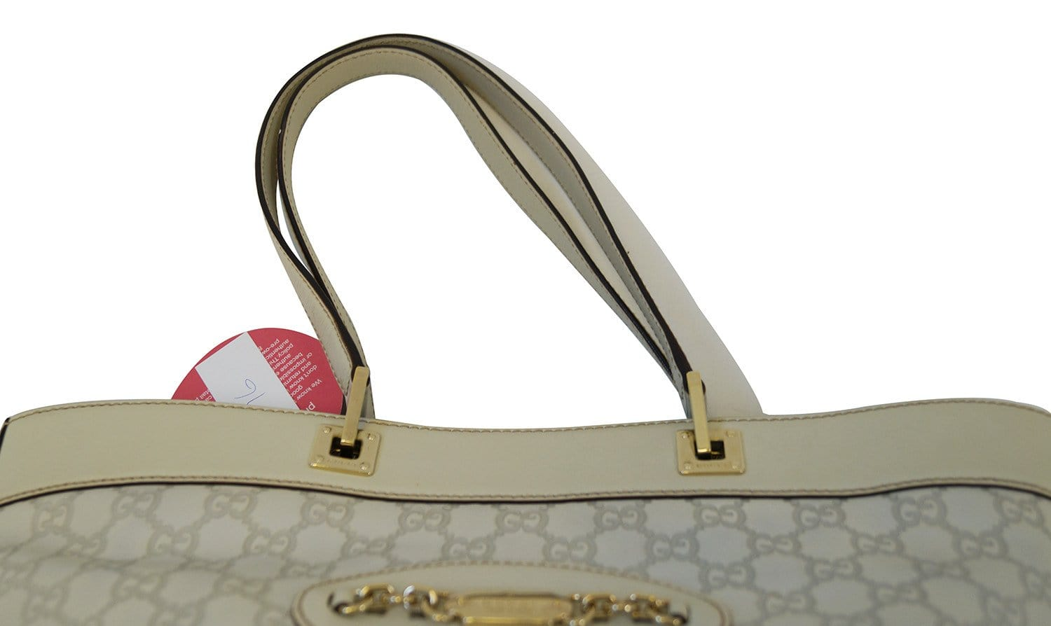 2f7cd282a92 Gucci 145993 Cream Guccissima Leather Gold-tone Tote Shoulder Bag