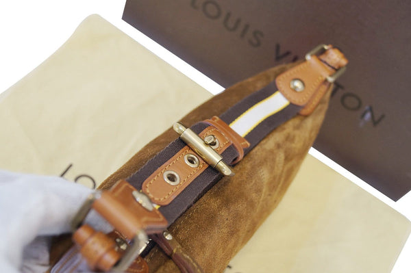 LOUIS VUITTON Cacao Pm Monogram Suede Onatah Shoulder Bag- Final Call