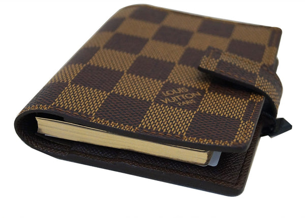 LOUIS VUITTON Damier Ebene Mini Agenda Notebook Cover
