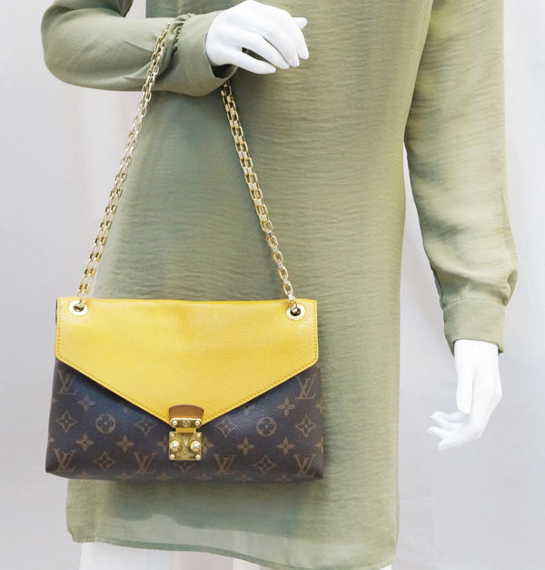 LOUIS VUITTON Monogram Canvas Pallas Chain Crossbody Bag