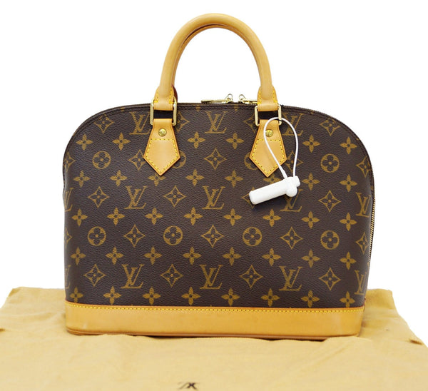 LOUIS VUITTON Monogram Canvas Alma Brown Handbag