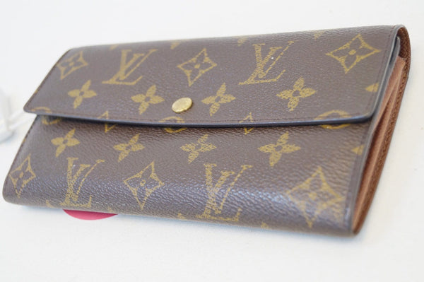 LOUIS VUITTON Monogram Canvas Long Flap Sarah Wallet