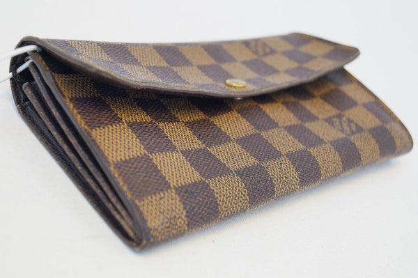 LOUIS VUITTON Damier Ebene Sarah Long Bifold Wallet