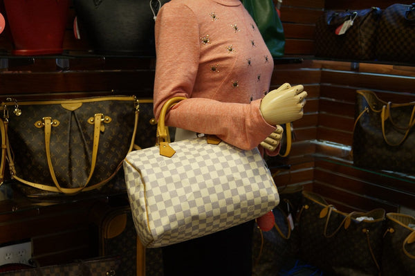 LOUIS VUITTON Damier Azur Speedy 30 Handbag - 30% Off