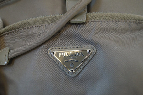 Authentic Prada Nylon Grey Backpack CC286