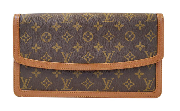 LOUIS VUITTON Pochette Dame GM Monogram Vintage Clutch Bag