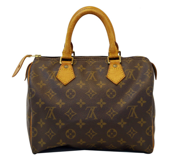 LOUIS VUITTON Monogram Speedy 25 Brown Hand Bag .