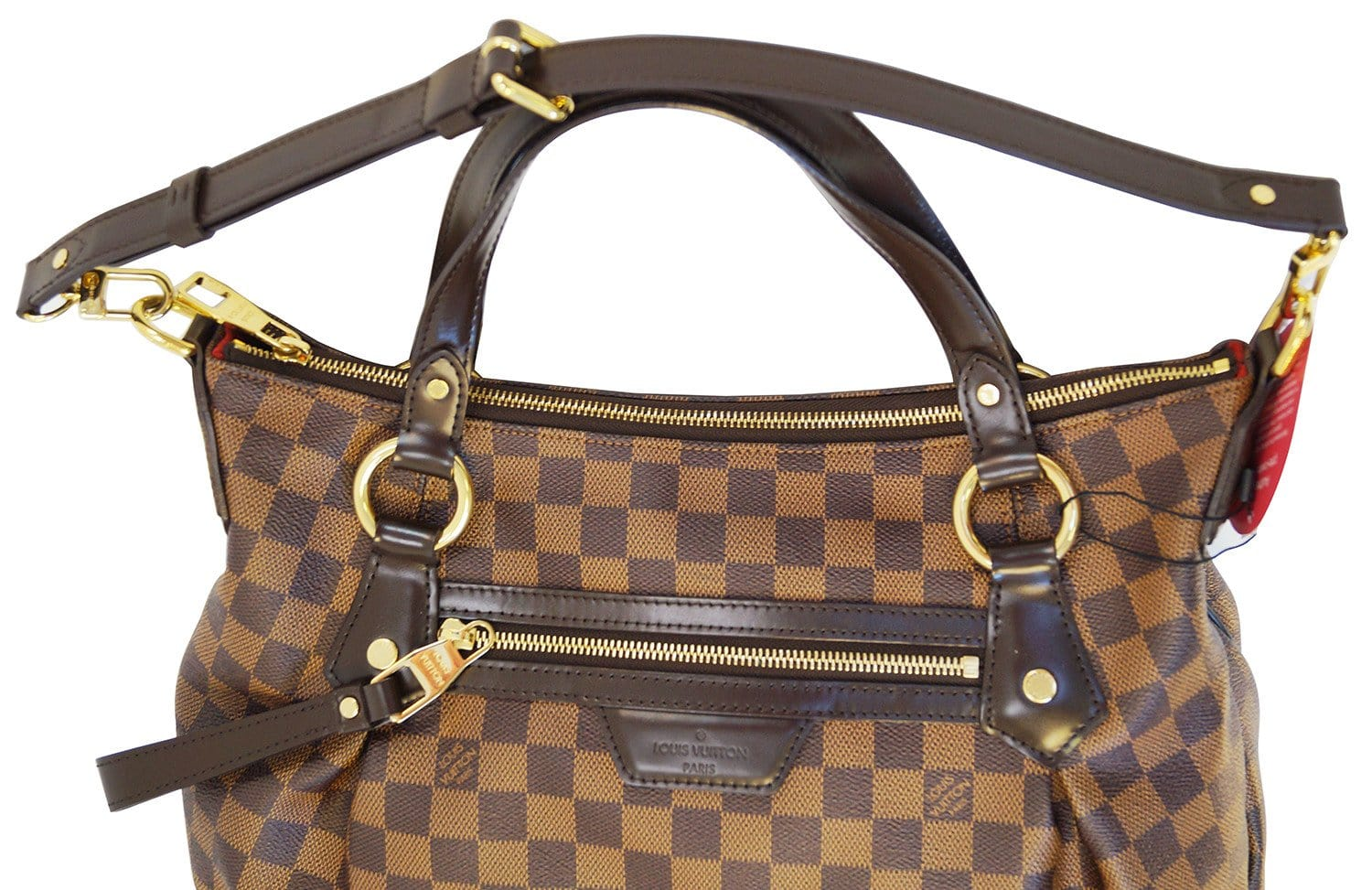 dac08a39d7c6 LOUIS VUITTON Evora MM Damier Ebene Tote Excellent Shoulder Bag
