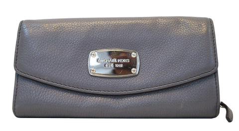 MICHAEL KORS Jet Set Slim Flap Gray Wallet - Sale