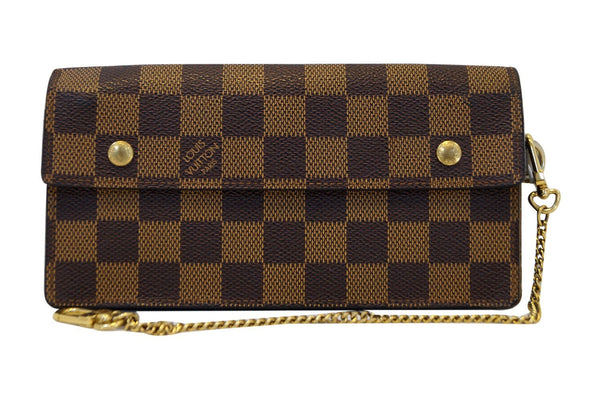 LOUIS VUITTON Damier Ebene Accordion Bifold Long Wallet
