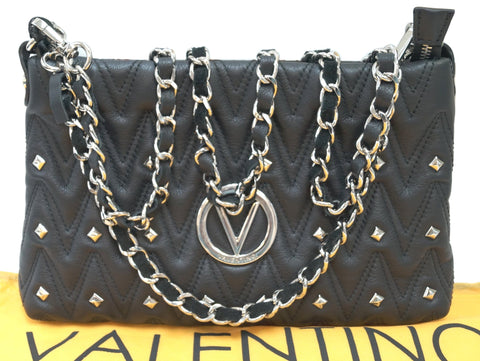 Valentino By Mario Valentino Vanille Studs Leather Shoulder Bag