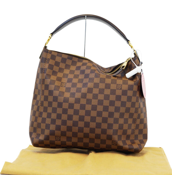 LOUIS VUITTON Damier Ebene Portobello PM Shoulder Handbag