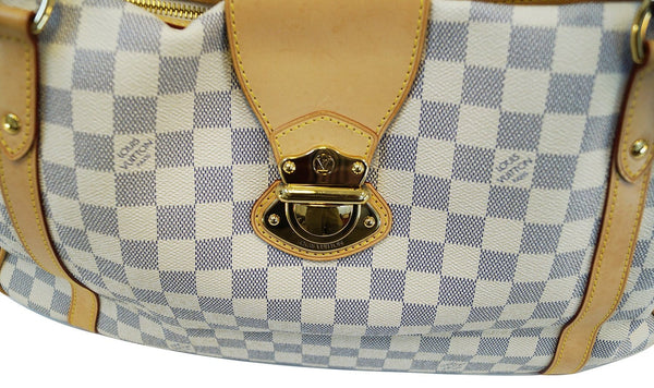 LOUIS VUITTON Damier Azur Stresa GM Tote Shoulder Bag