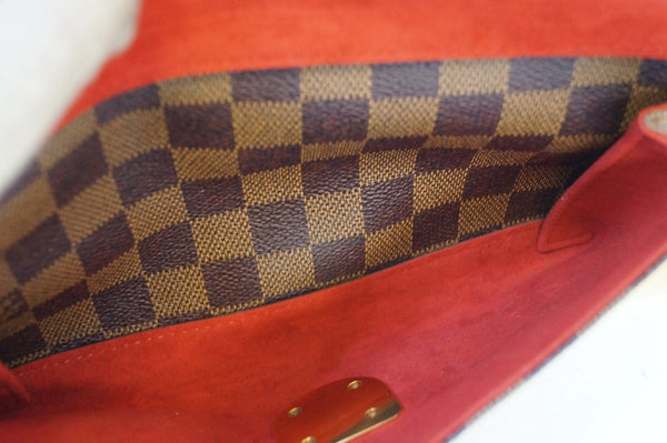 LOUIS VUITTON Damier Ebene Ravello GM Brown Shoulder Bag