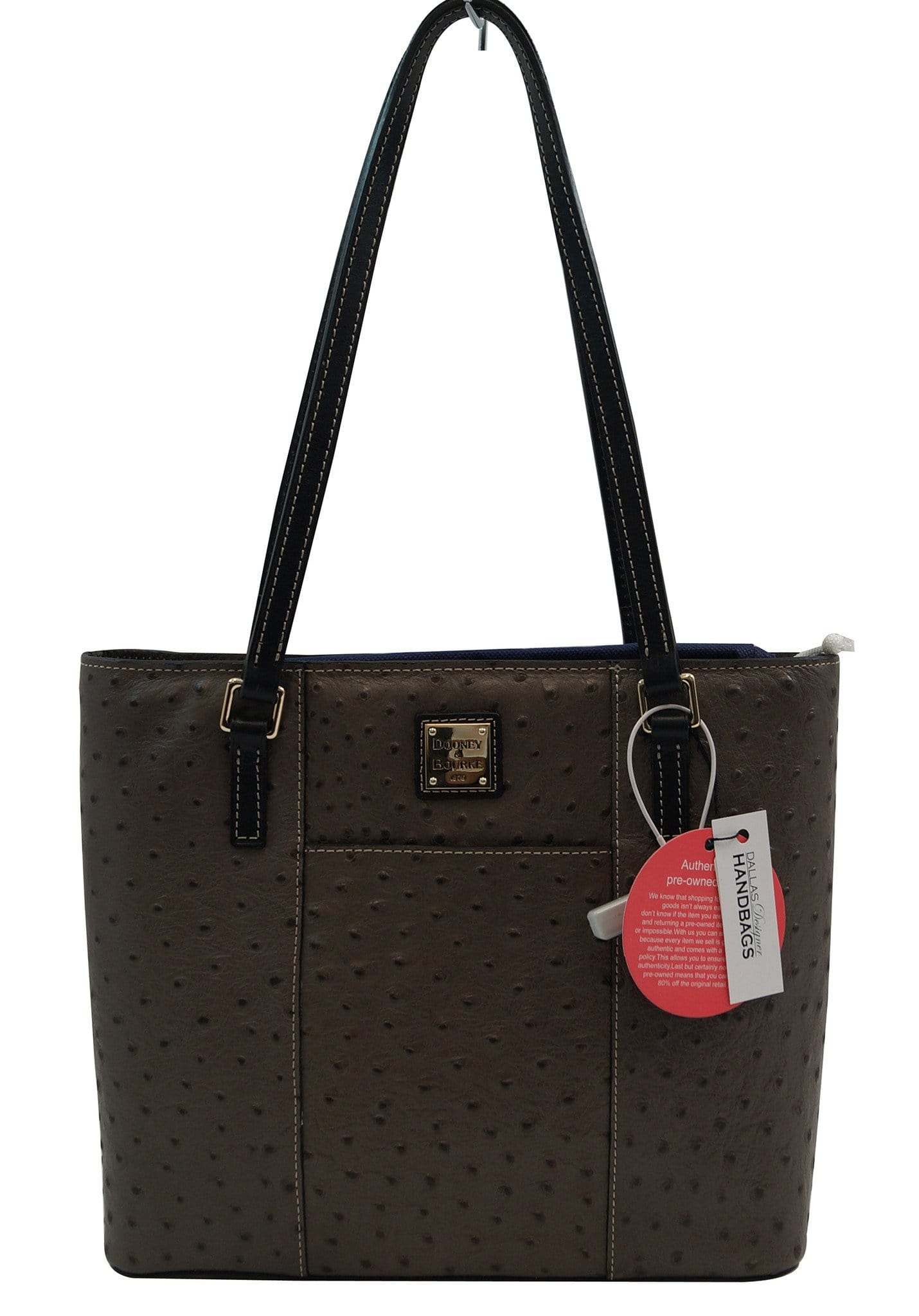 db9f982cef01 Dooney & Bourke Small Lexington Ostrich-Embossed Tote Shoulder Bag