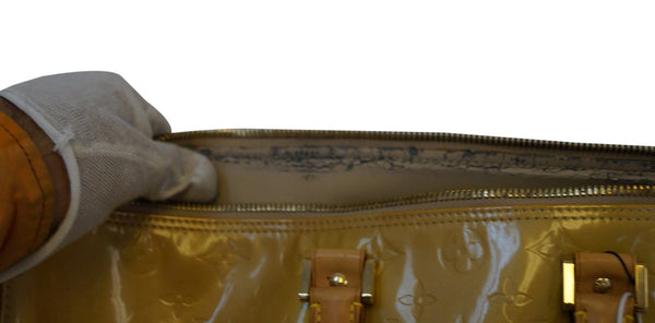 Louis Vuitton Yellow Monogram Vernis Mercer Duffel Bag