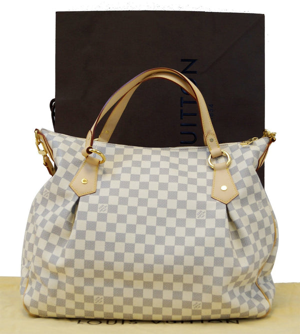 LOUIS VUITTON Damier Azur Evora GM Tote MINT Shoulder Bag