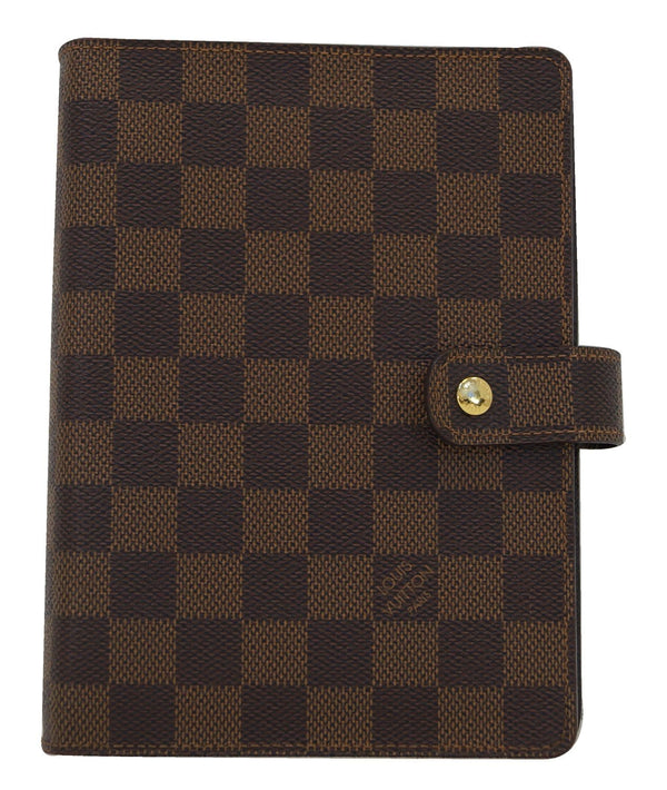 LOUIS VUITTON Damier Ebene Agenda MM Day Planner Cover
