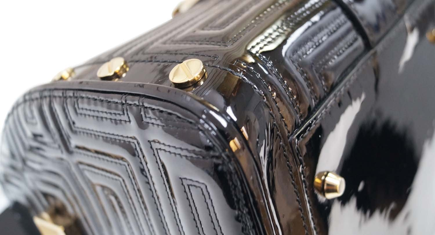 b9e7e10ad2 Gianni Versace Patent Leather Couture MADONNA Snap Out Of It Bag ...