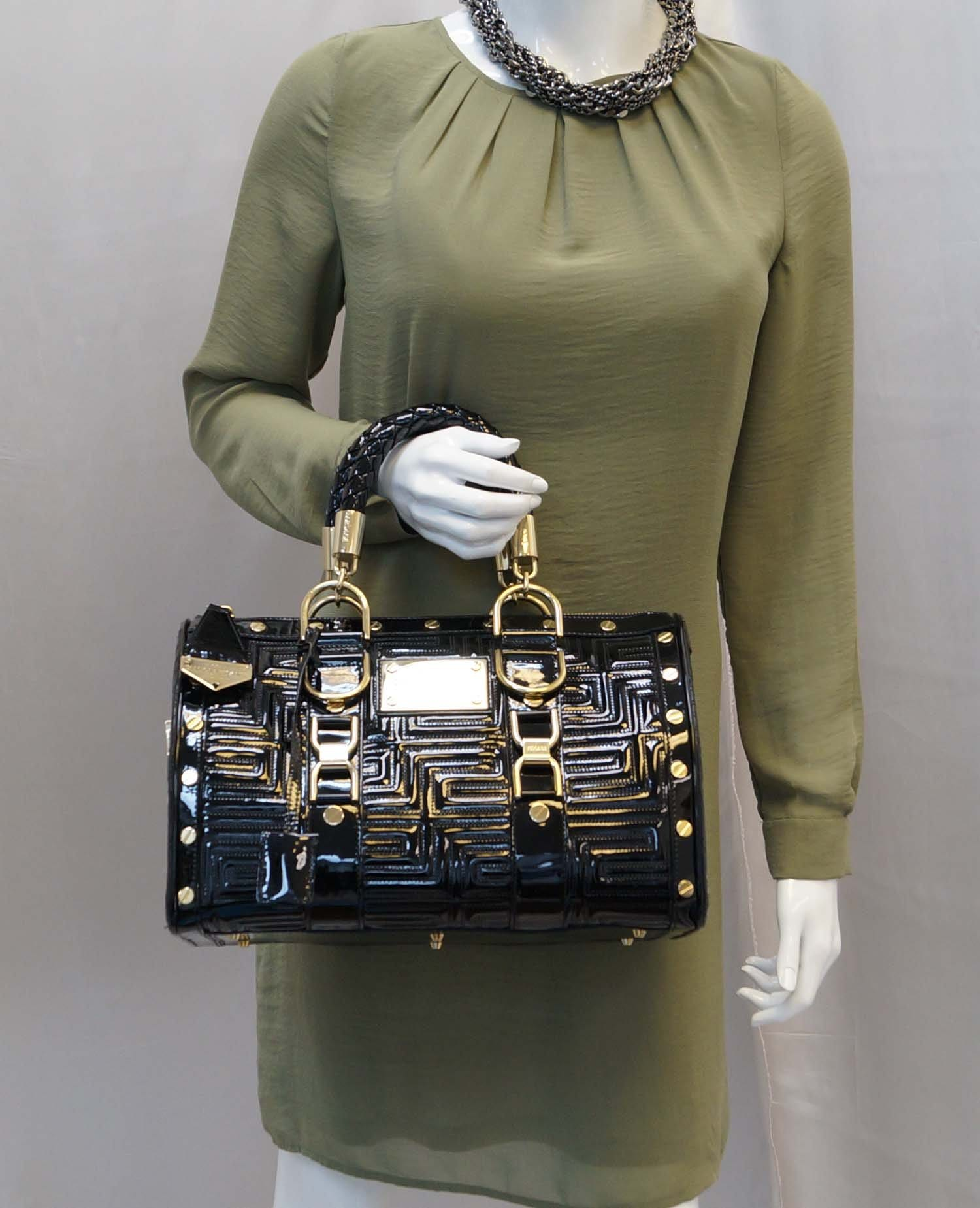 Gianni Versace Patent Leather Couture MADONNA Snap Out Of It Bag ... be33119c51ce5