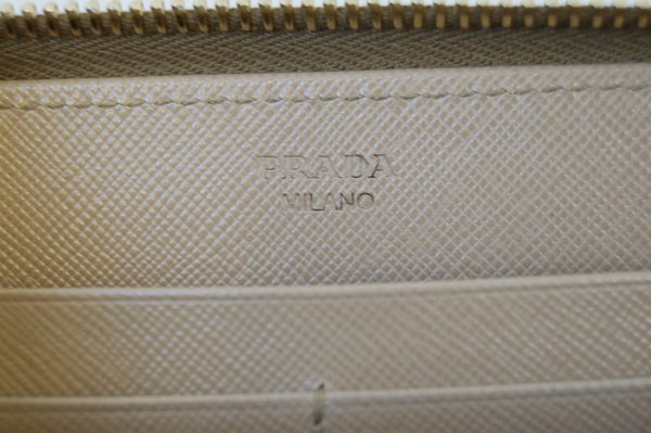 Prada Saffiano Leather Wallet Zipped - Embossed Logo