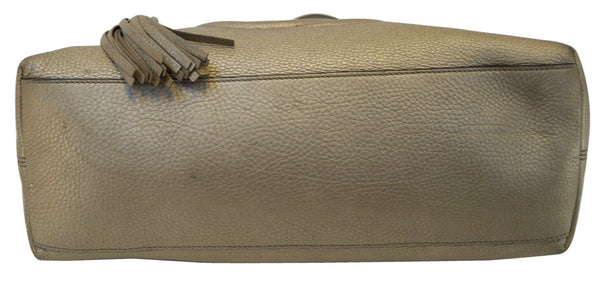 Gucci Soho Gold Pebbled Leather Chain Shoulder Bag - back view