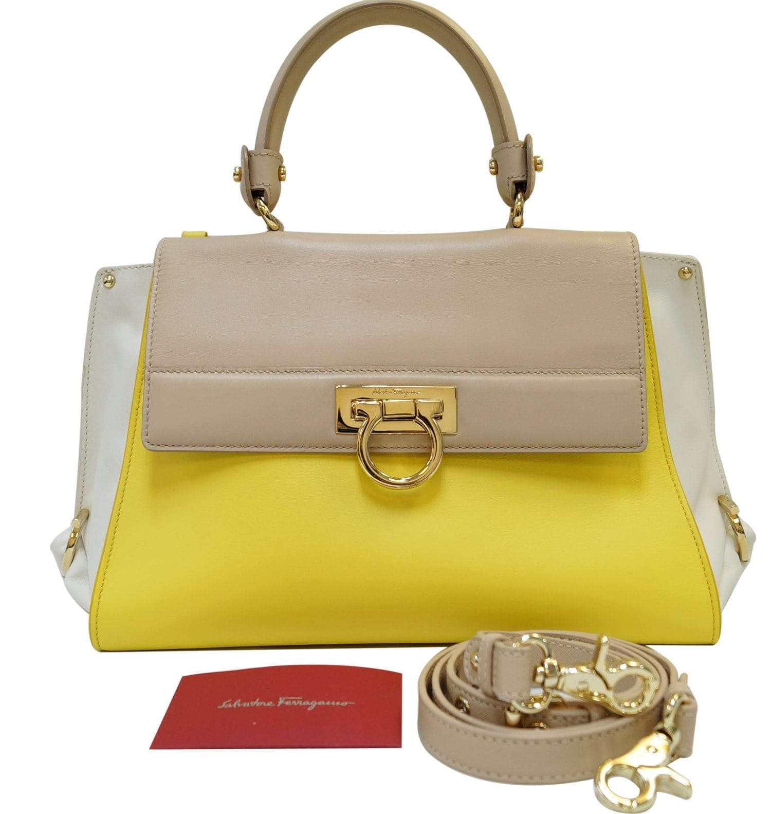 Salvatore Ferragamo Large Sofia Top Handle Bag - Final Call 7642ac70e4