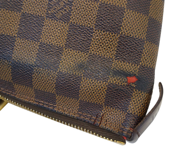 Authentic LOUIS VUITTON Saleya GM Damier Ebene Brown  Bag TT1386