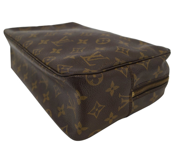Authentic LOUIS VUITTON Monogram Trousse Toilette 28 Cosmetic Pouch E3123