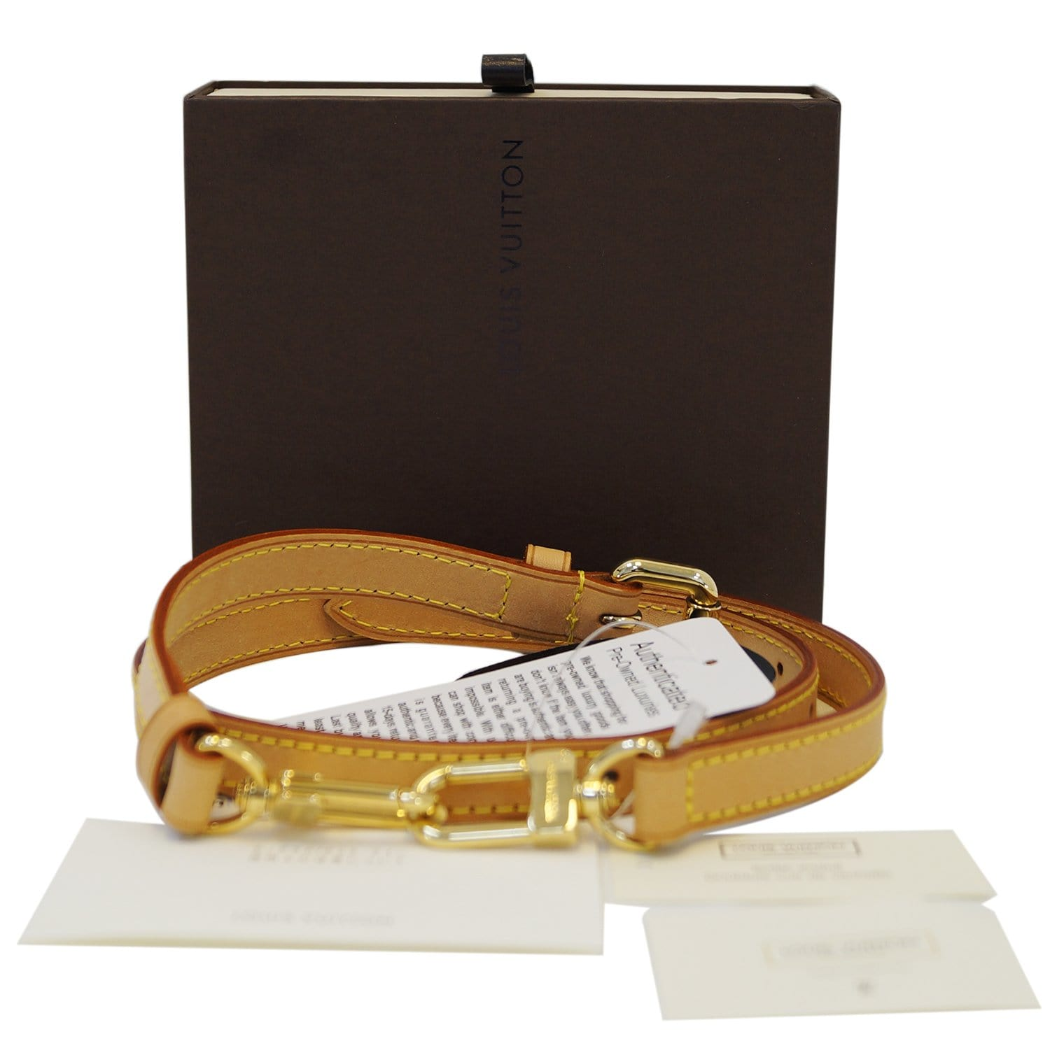 16ca485b5211 LOUIS VUITTON Leather Beige Shoulder Strap For Keepall