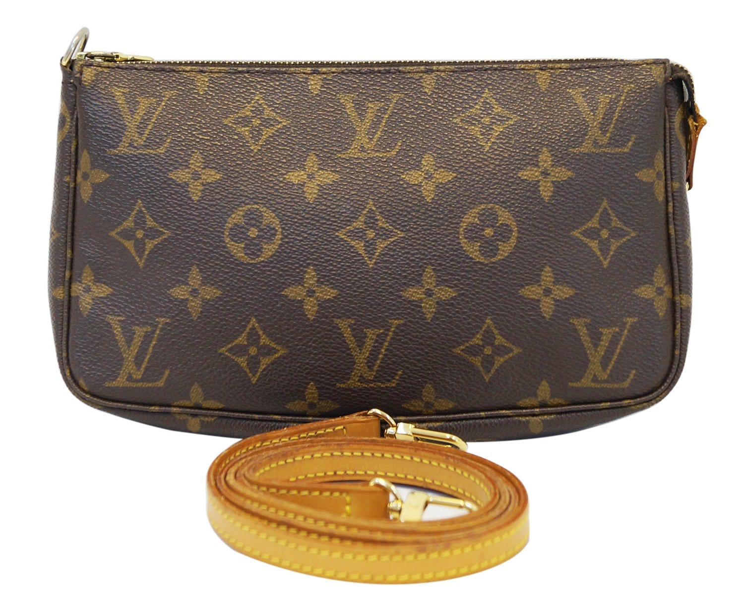 729701c8cbc3 Authentic LOUIS VUITTON Monogram Pochette Accessoires Crossbody Bag E3