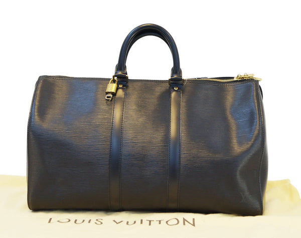 LOUIS VUITTON Epi Leather Black Keepall 45 Travel Boston Bag