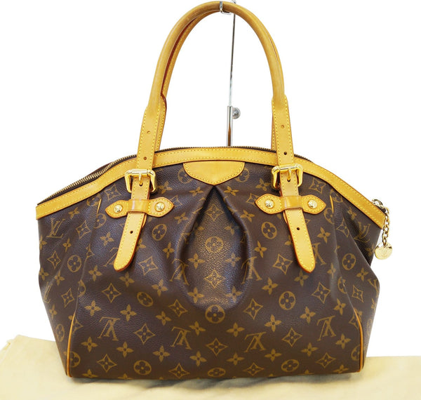 Authentic LOUIS VUITTON Monogram Tivoli GM Brown Tote Bag E3103