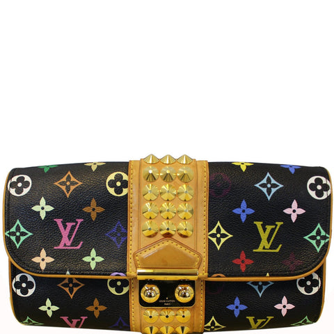 LOUIS VUITTON Black Monogram Multicolore Courtney Clutch Bag