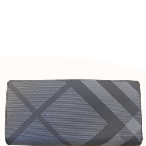 BURBERRY London Check and Leather Continental Wallet